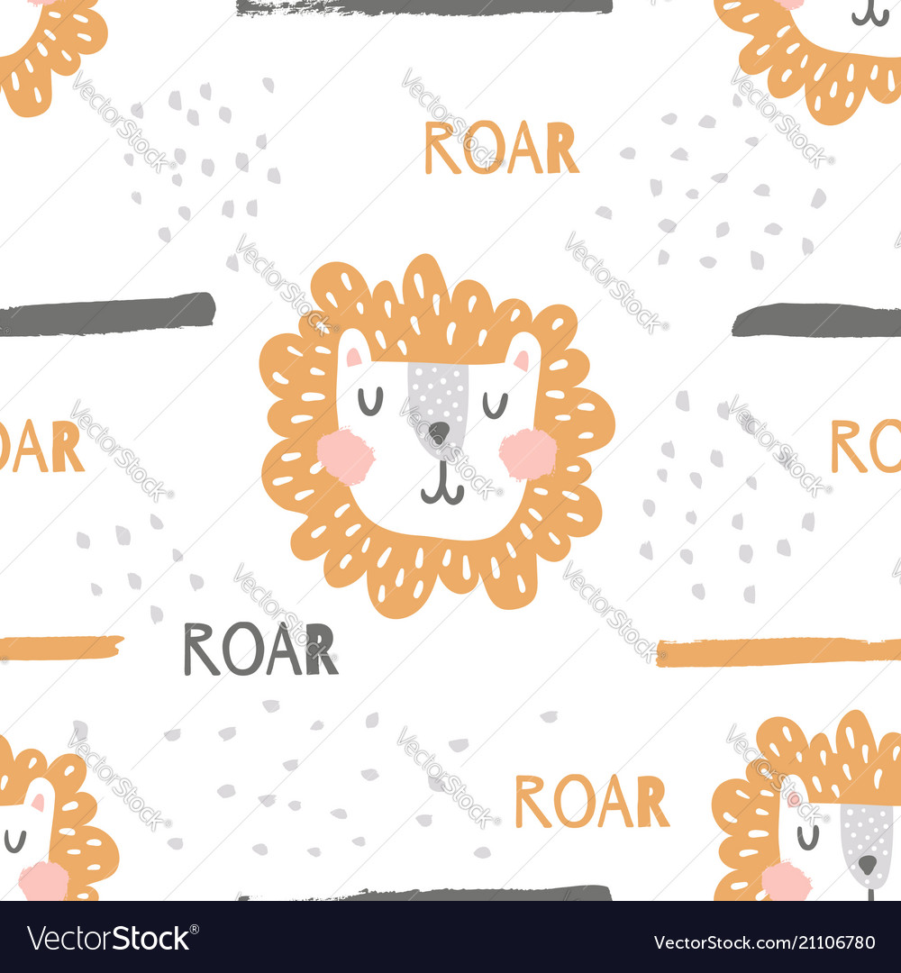 Nursery lion pattern