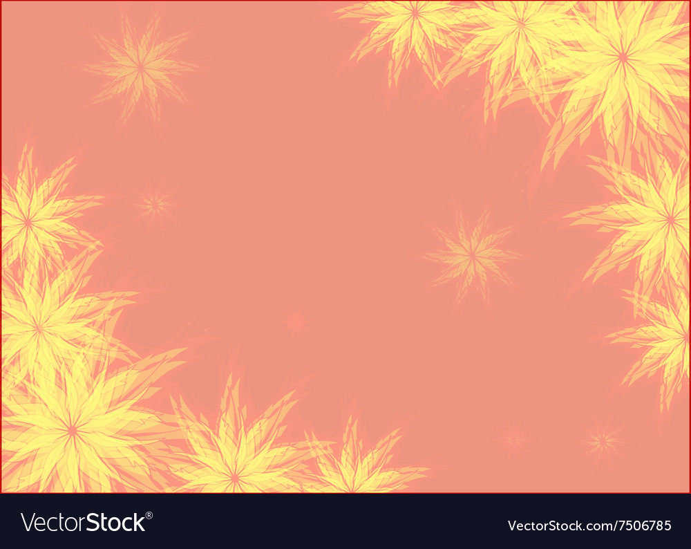 Abstract drawing with floral motif Frame vector image