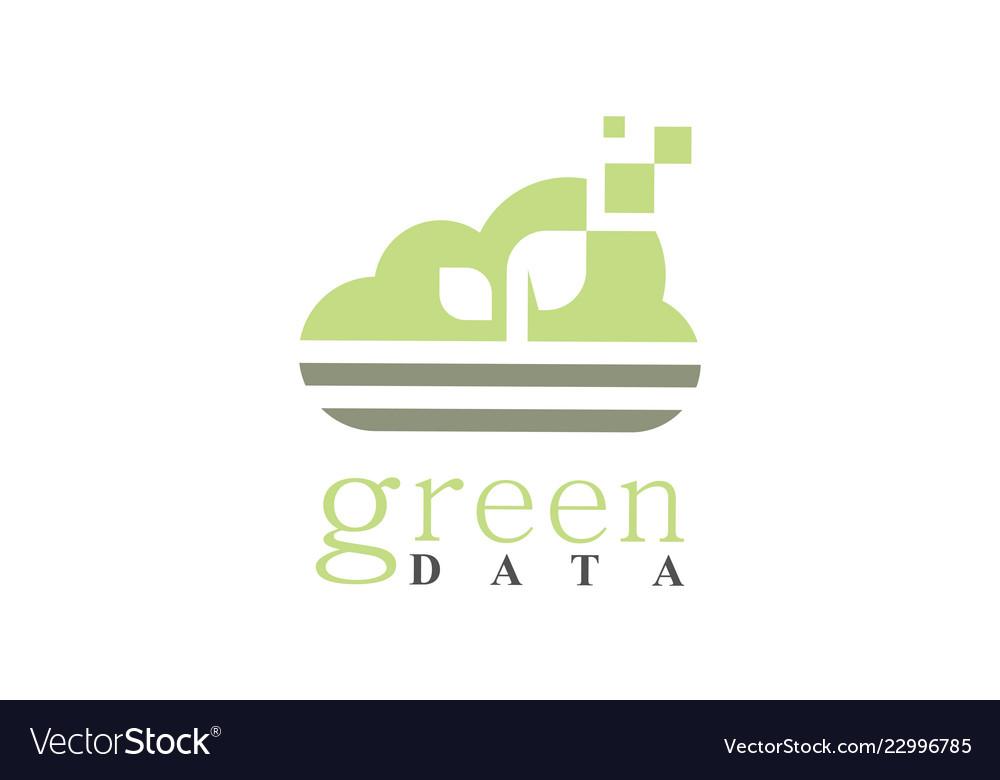 Cloud green data logo