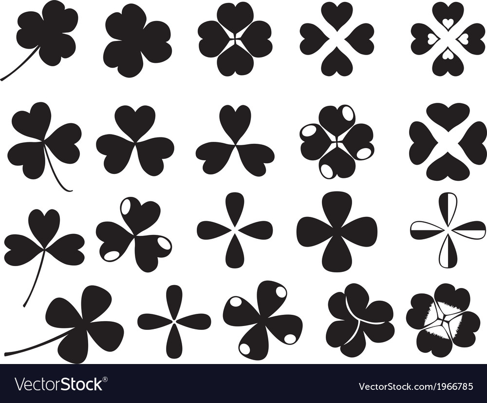 Clover collection vector image