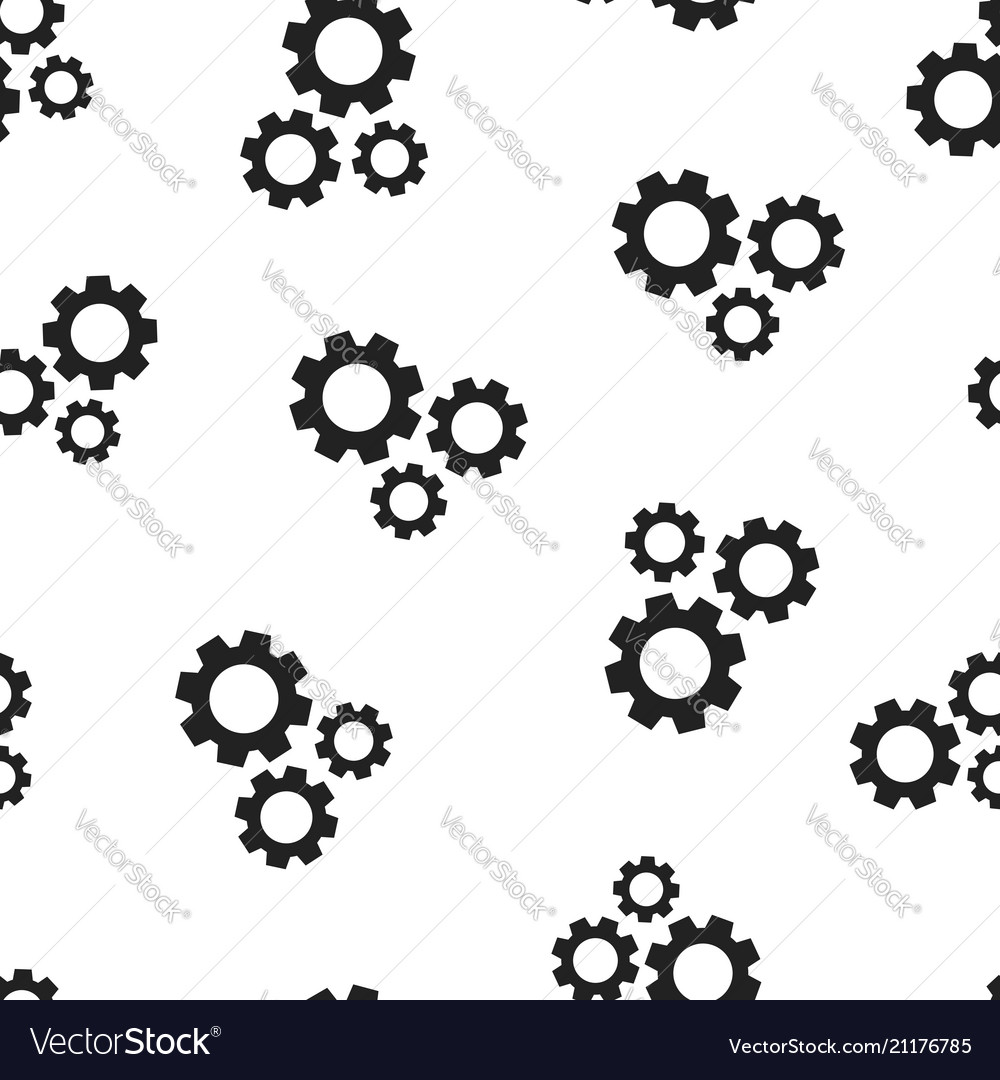 Gear cog wheel icon seamless pattern background