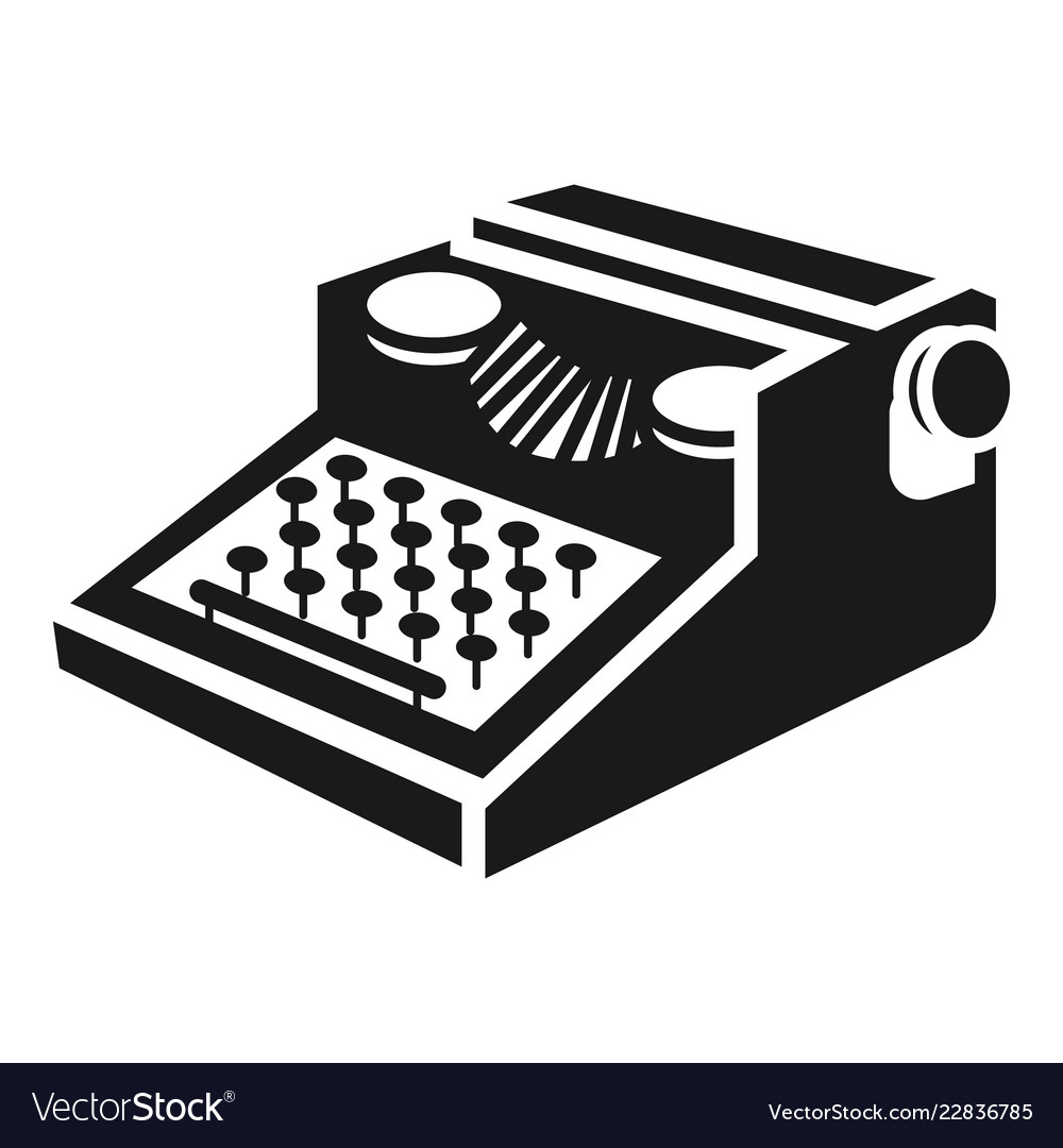 newspaper typewriter icon simple style royalty free vector