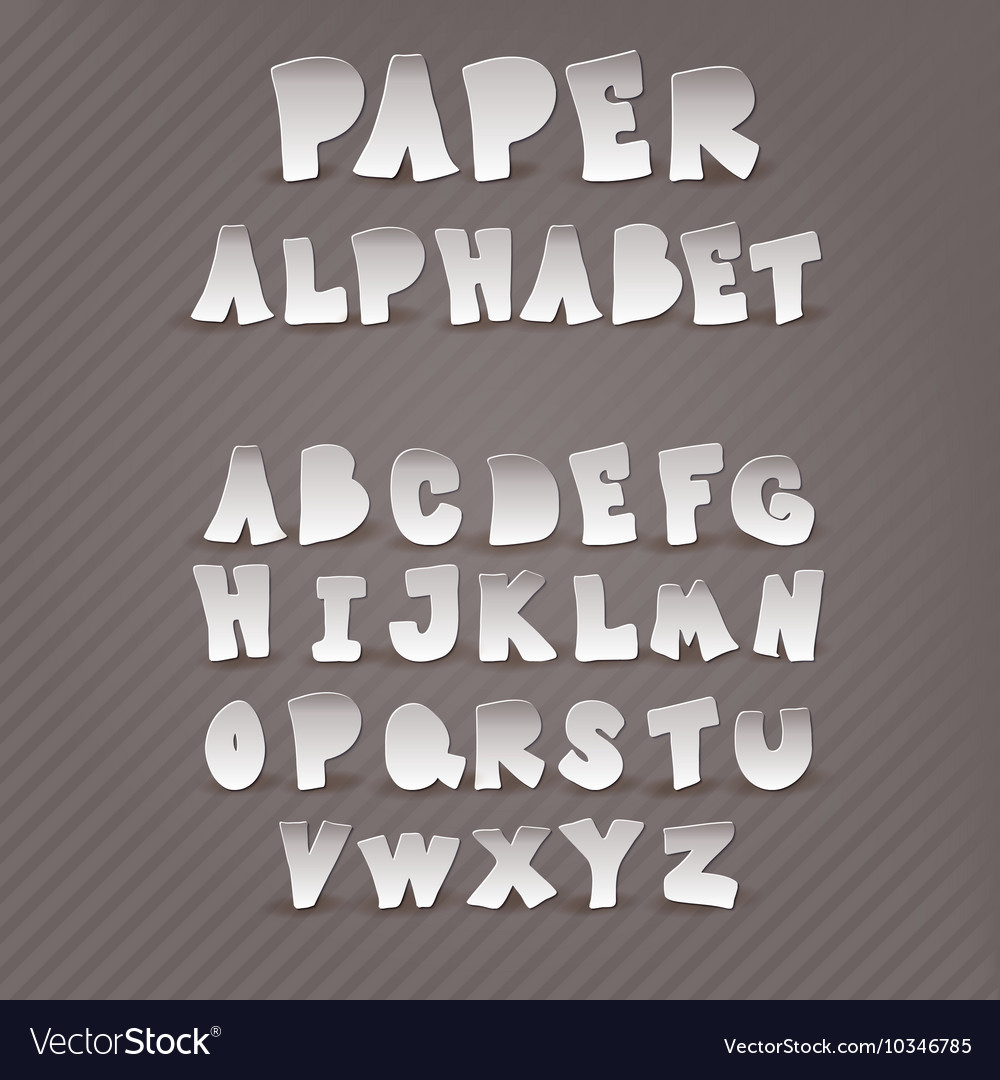 Paper alphabet with the decor inside the letters