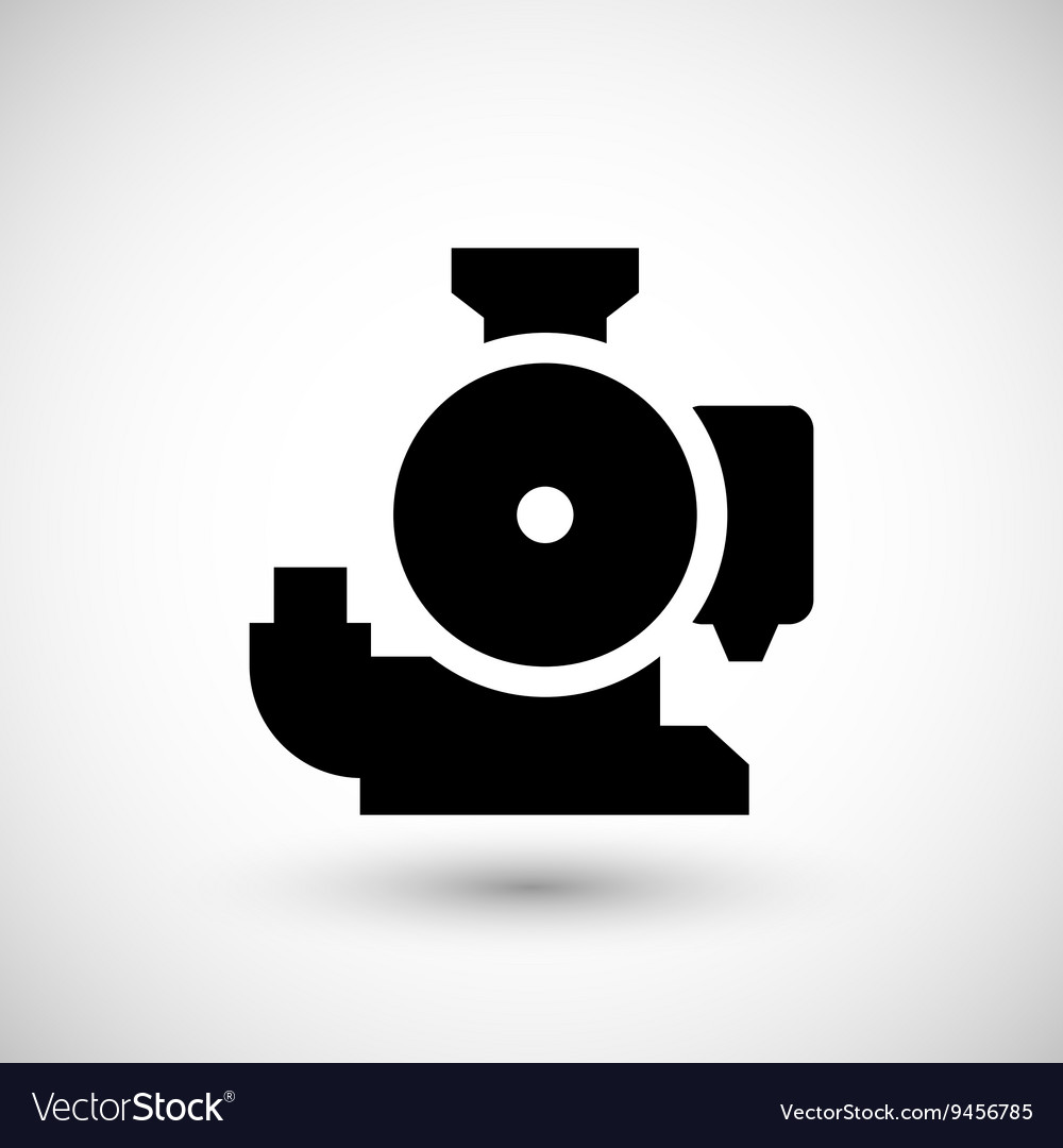 Sewage pump icon vector image