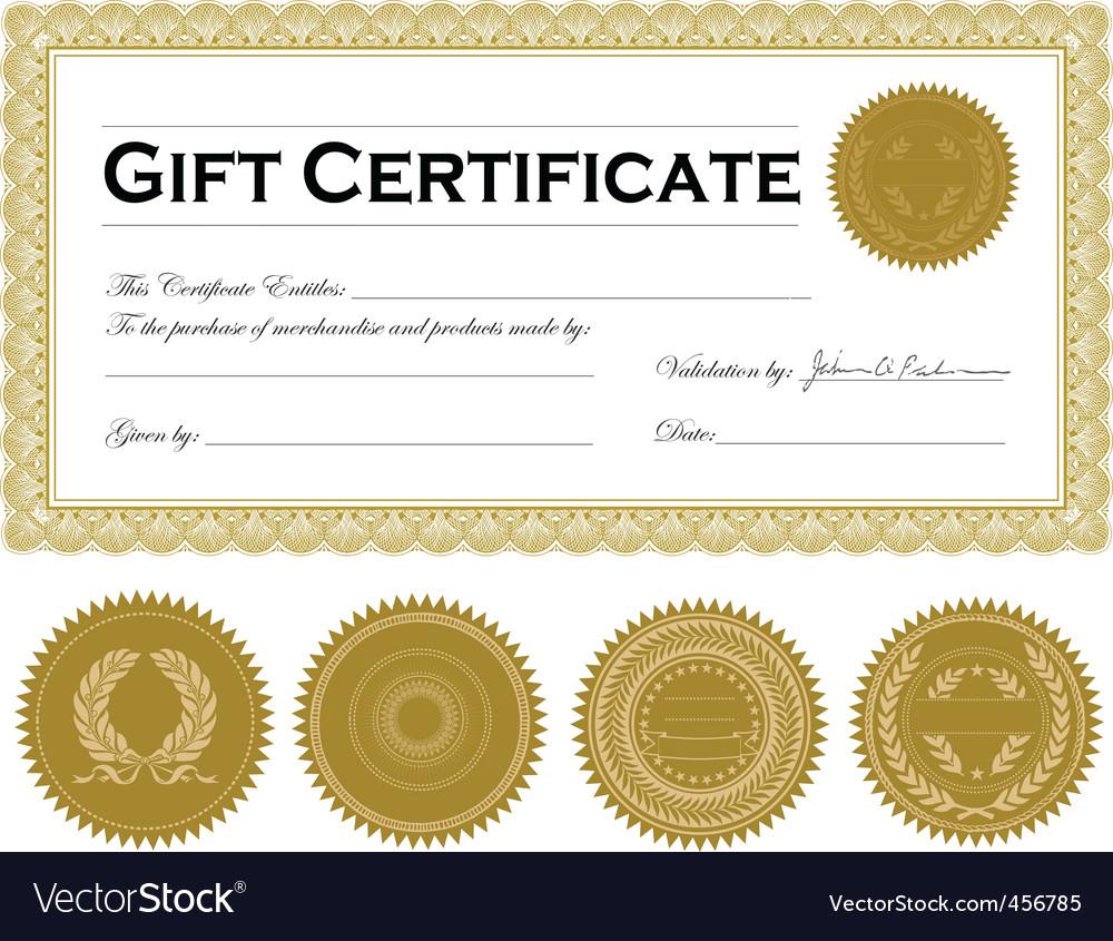 Vector dark gold certificate frame vector image