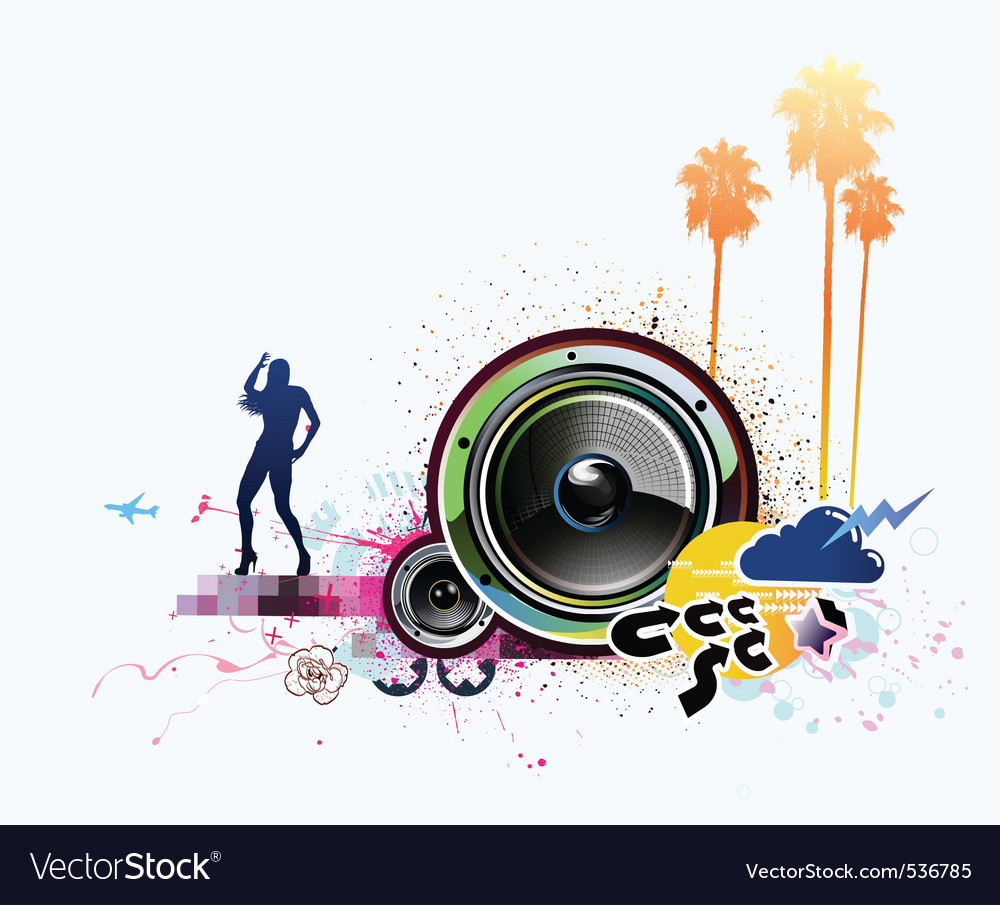 Vector illustration of grunge abstract party backg