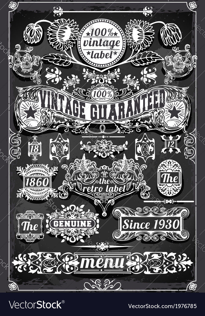 Vintage Hand Drawn Graphic Banners and Labels on
