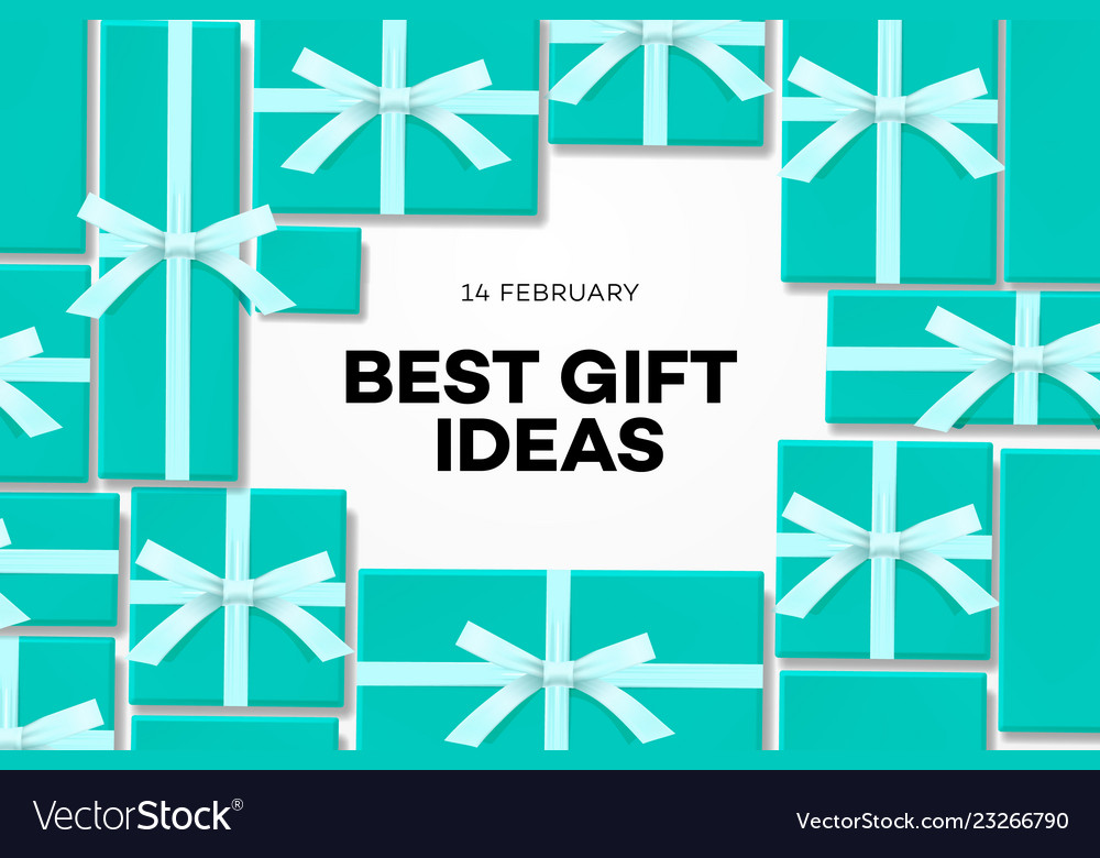 Best gift idea web banner for valentines day with