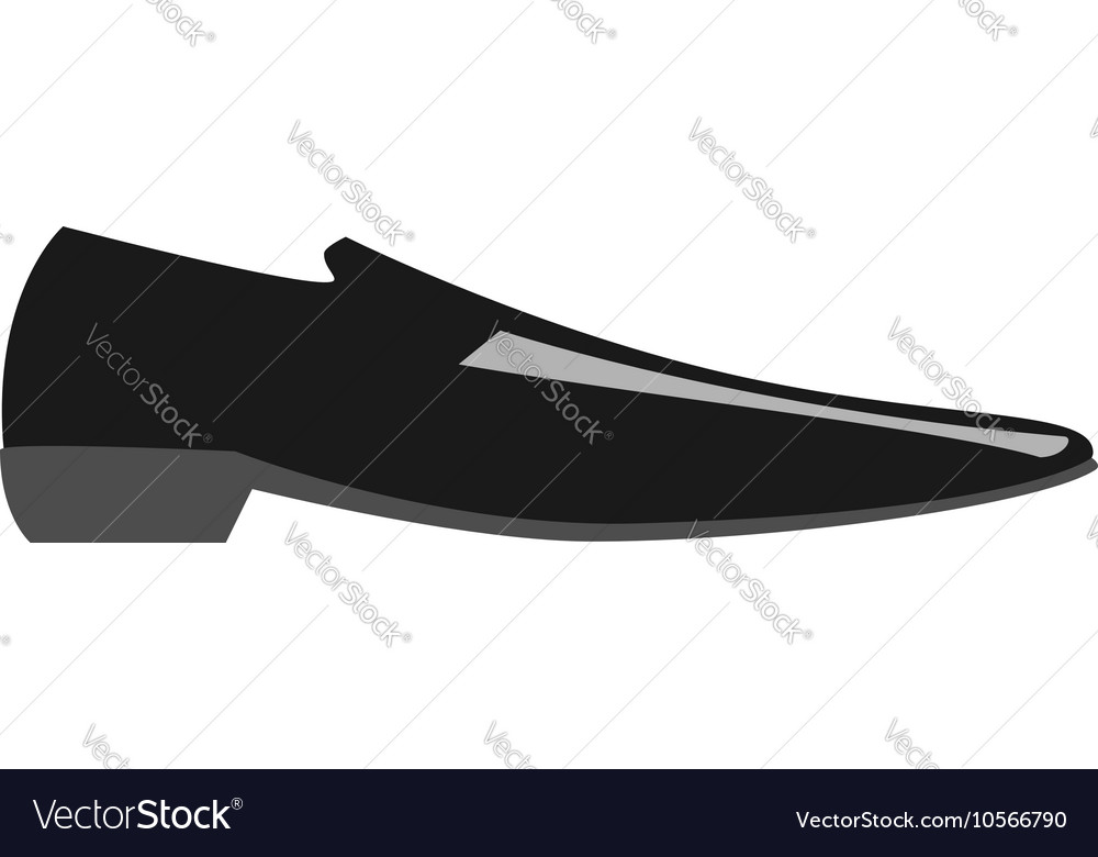 Classic man shoe isolated vector image