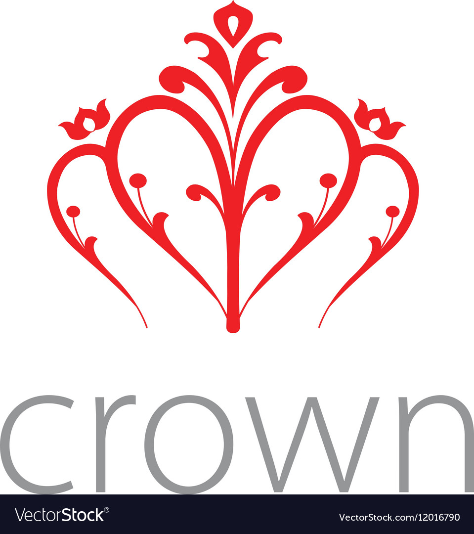 Logo crown vector image
