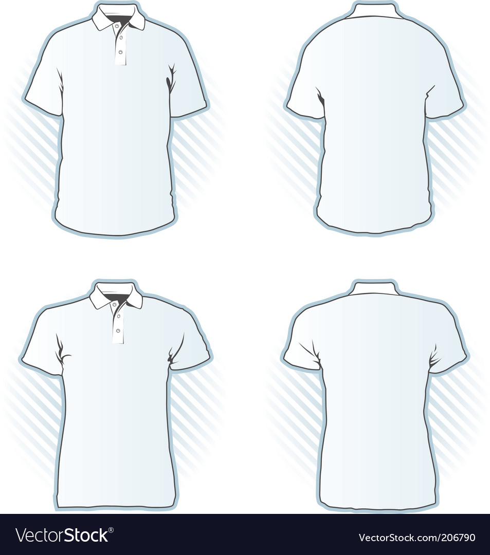 Polo Shirt Design Template Set Royalty Free Vector Image - Design a shirt template