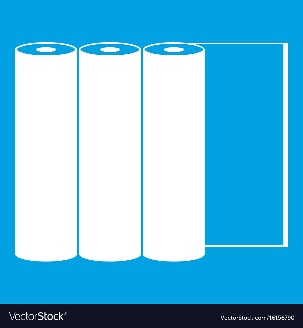 Rolls of paper icon white vector image