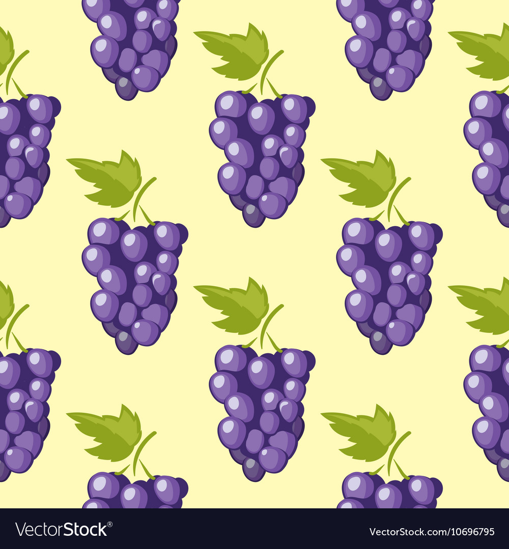 Bunch of grapes seamless background
