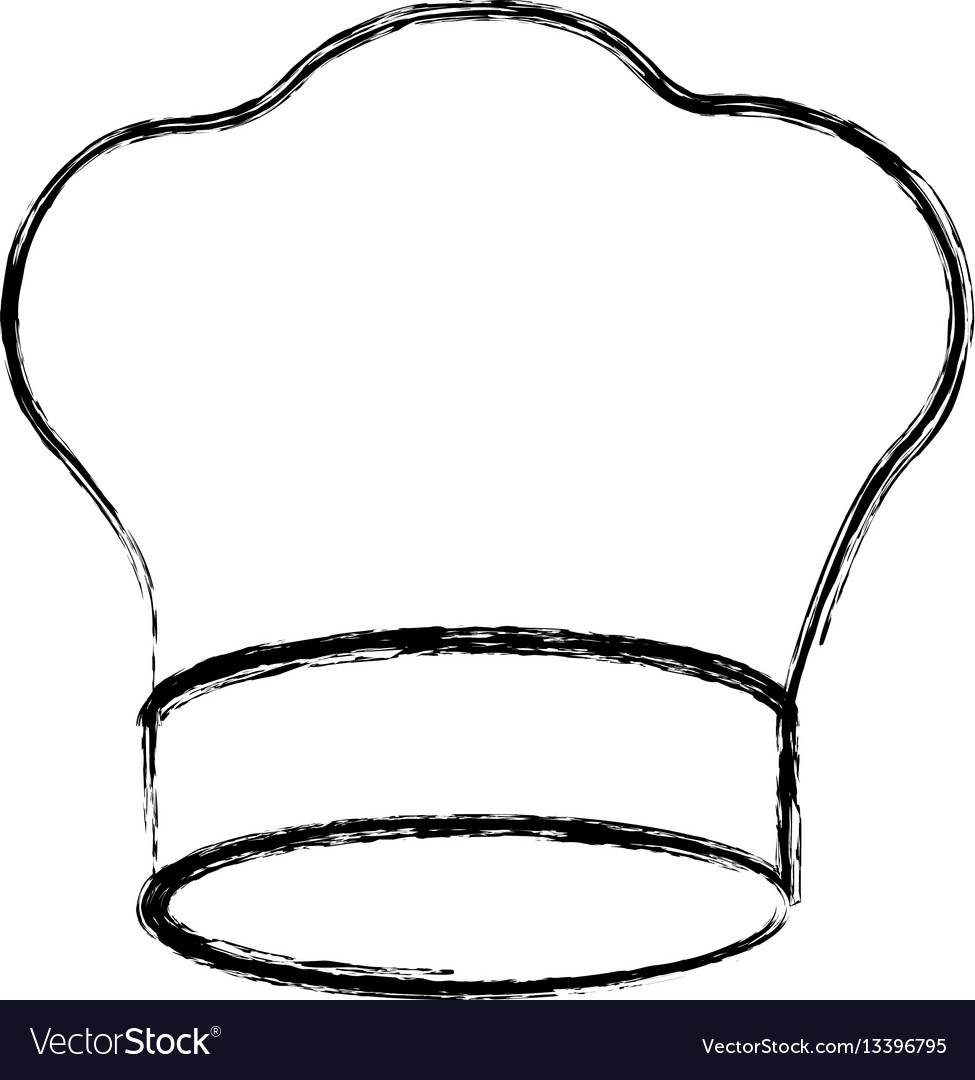 Contour chef hat icon vector image