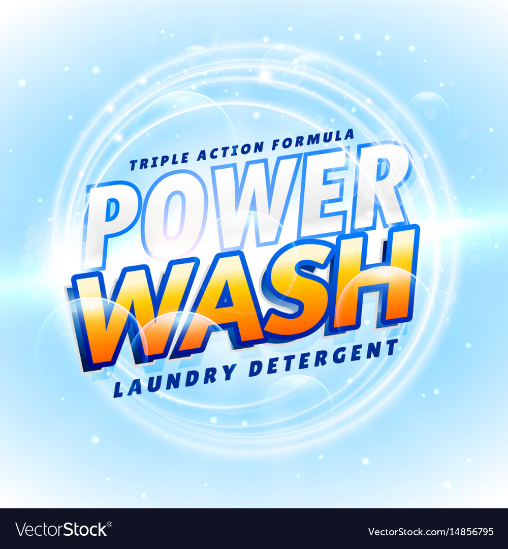 Detergent and cleaning product packaging creative vector image