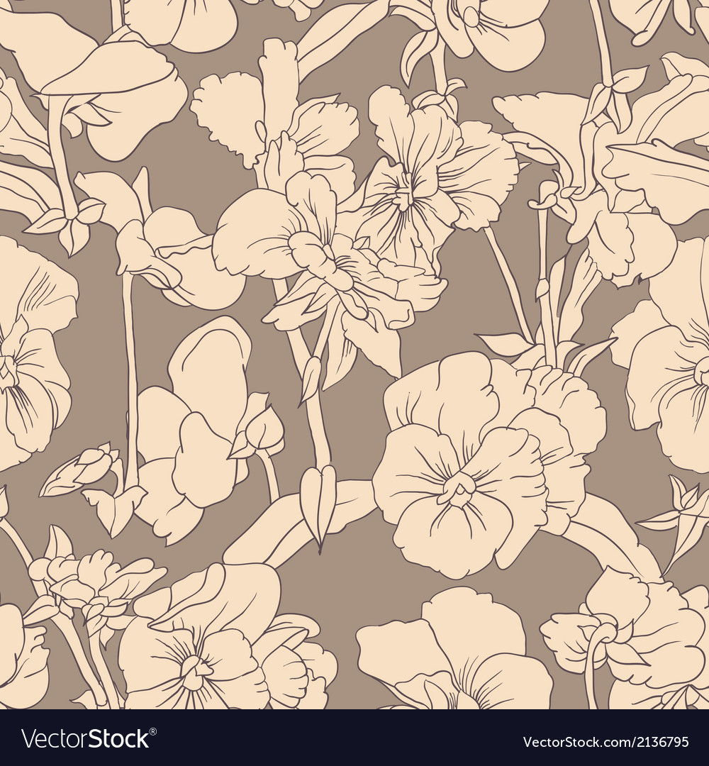 Elegant floral wallpaper vector image