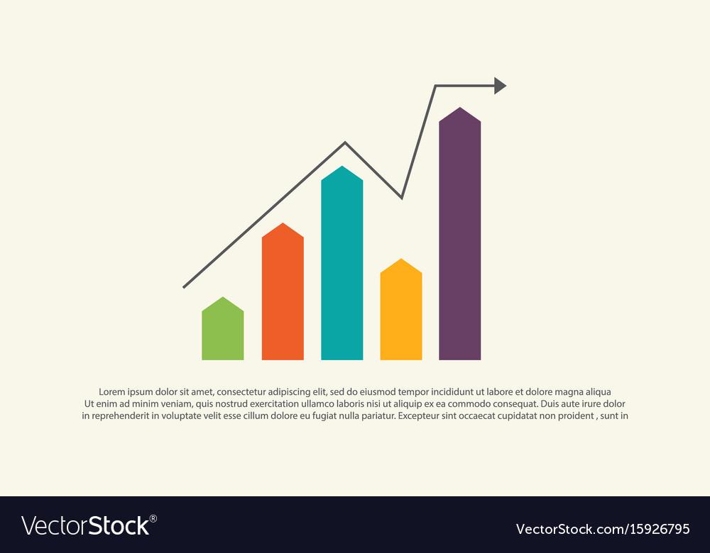 Financial graph chart business design