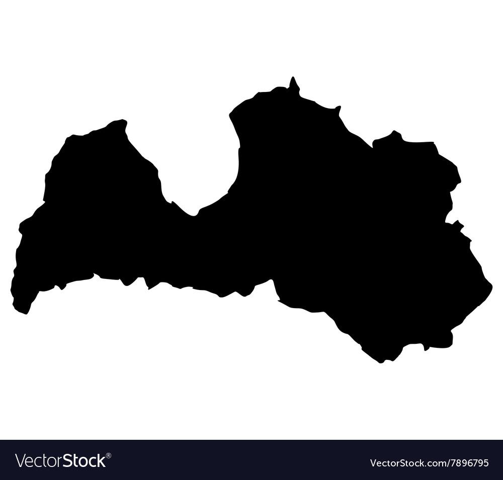 Map Latvia Royalty Free Vector Image - VectorStock