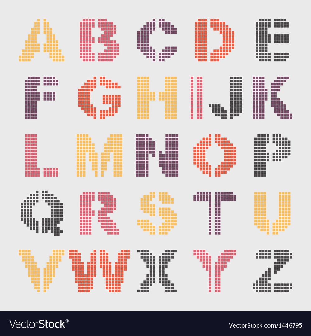 Pixel geometric alphabet
