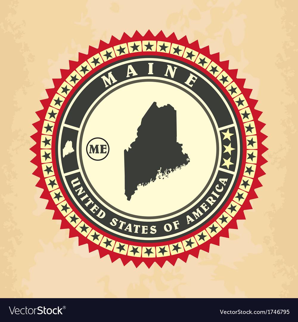 Vintage label-sticker cards of Maine
