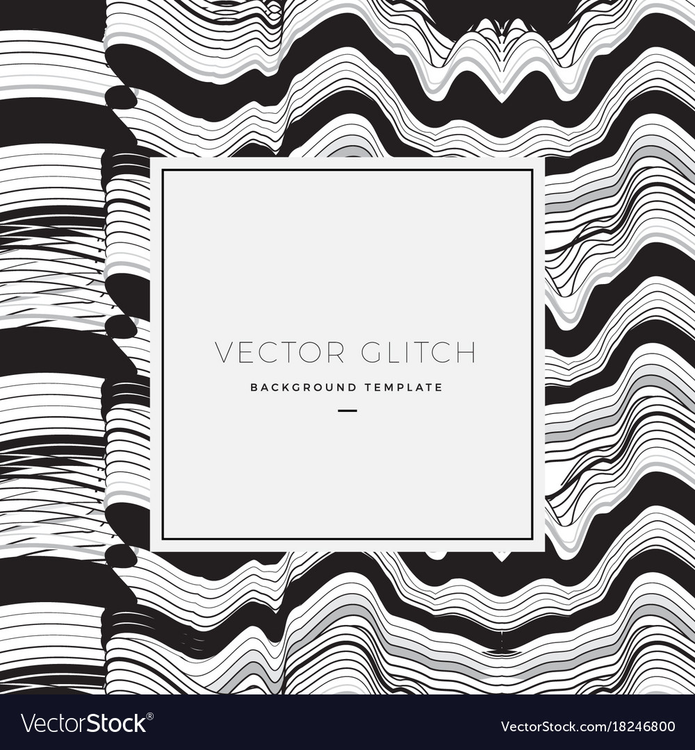 Abstract glitch background card or banner