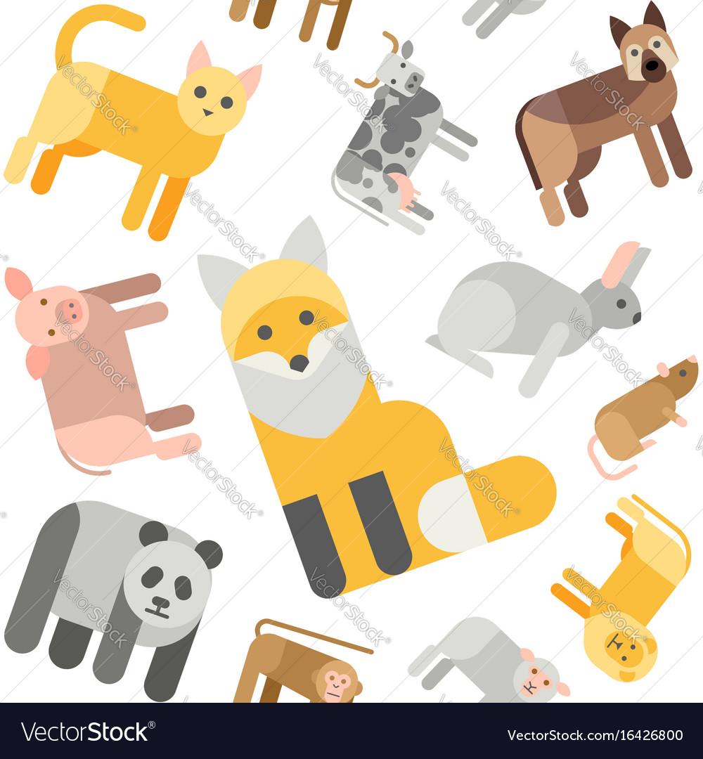 Animals seamless pattern