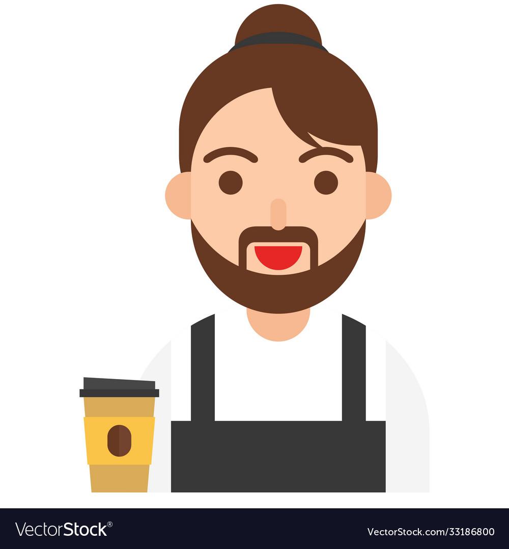 Barista icon profession and job