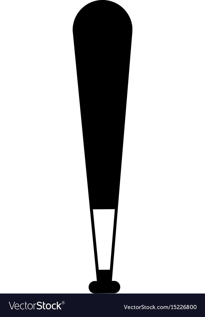 Black icon baseball bat cartoon vector image