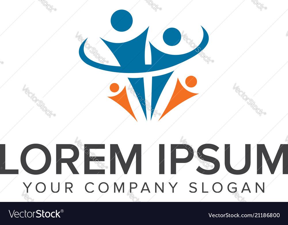 Family logopeople logo logo design concept