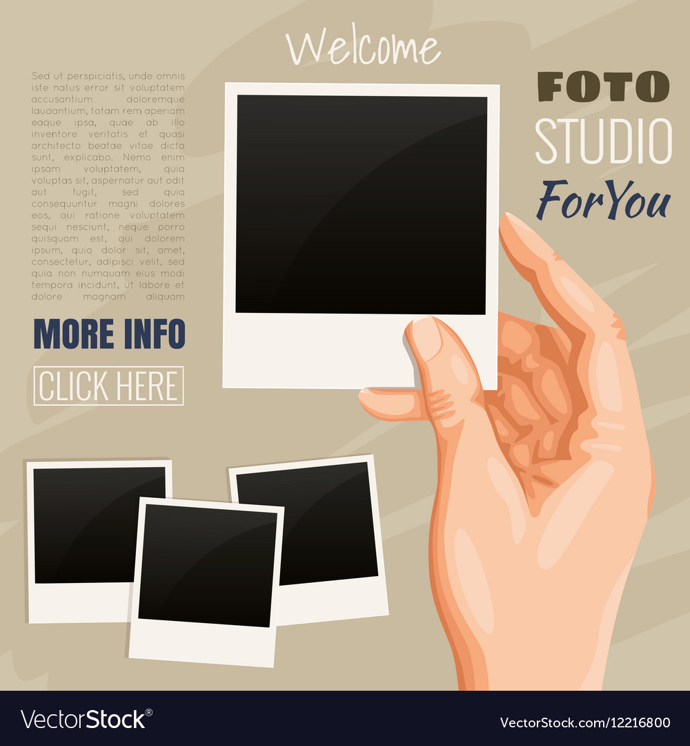 Photos in hand vector image