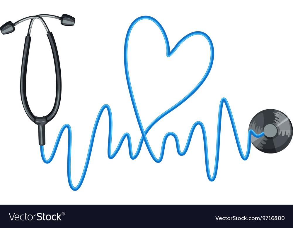 Stethoscope as symbol of good health