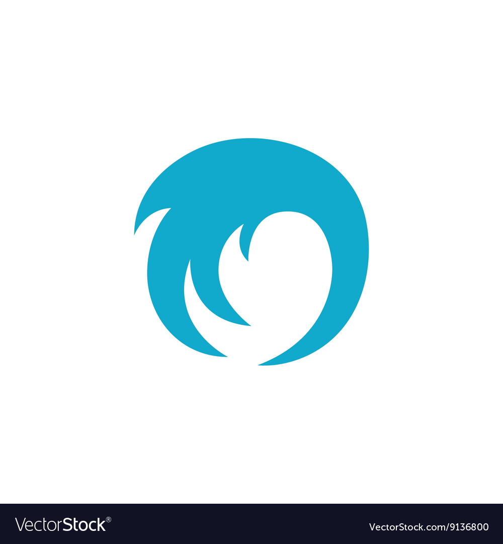 Wave Icon logo on white background
