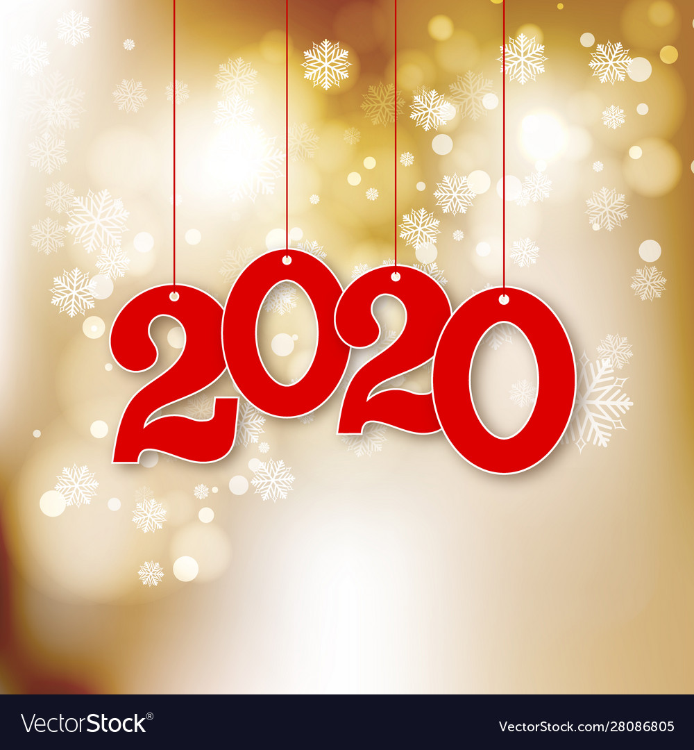 Abstract new year background with 2020