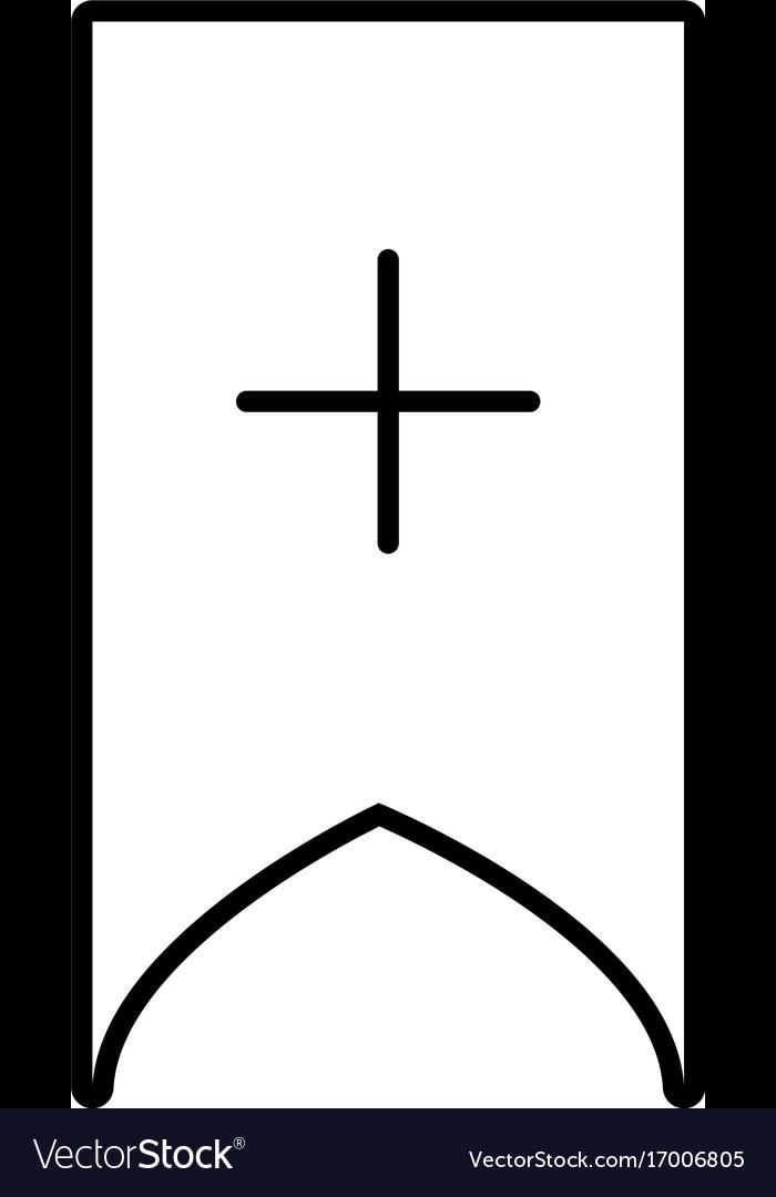 Add bookmark icon vector image