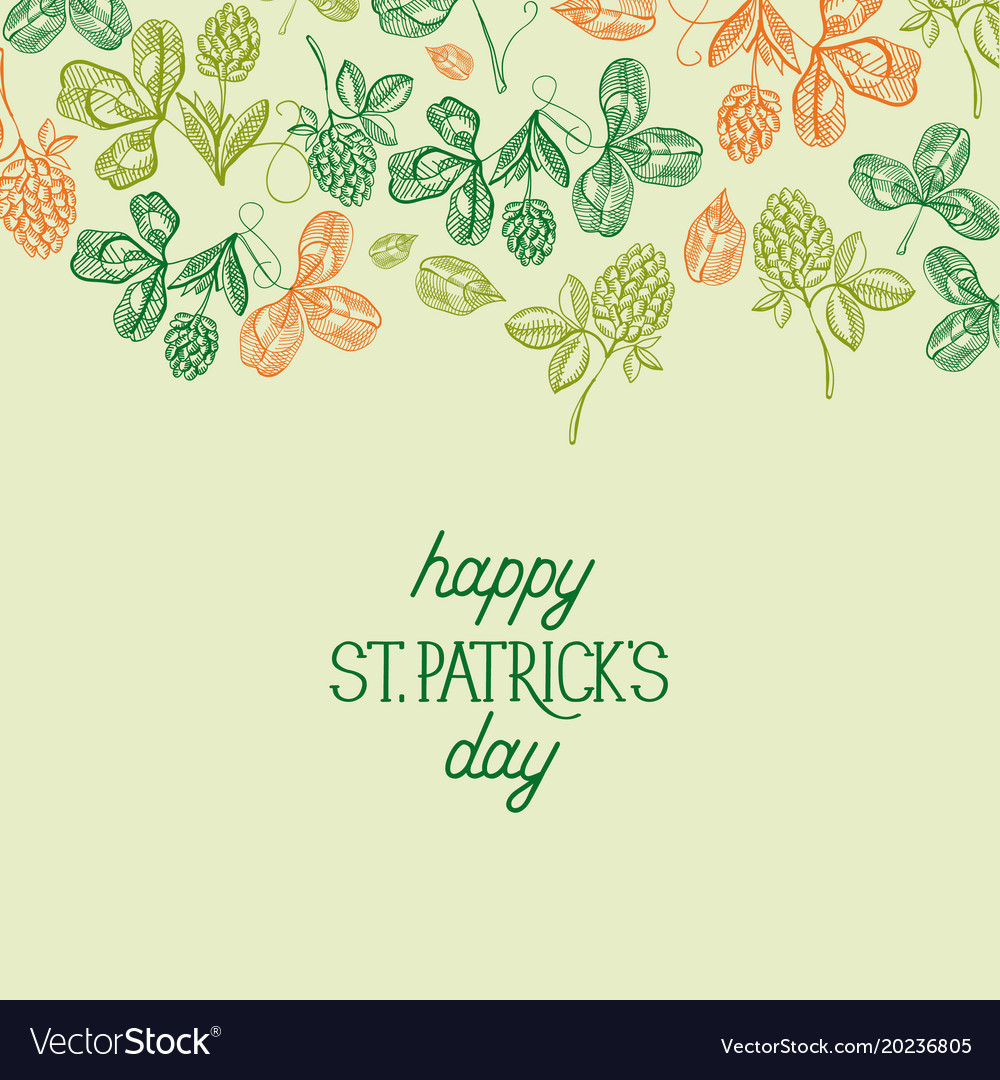 Happy saint patricks day festive template