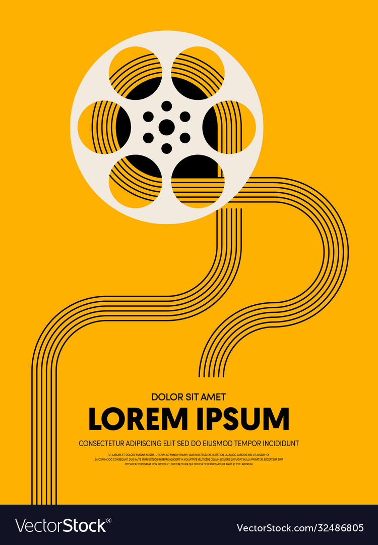 Movie and film festival poster template design