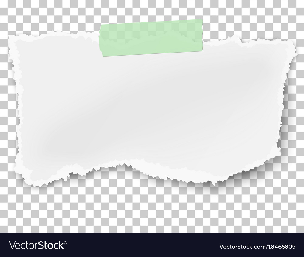 Rectangular ragged paper wisp with soft shadow vector image