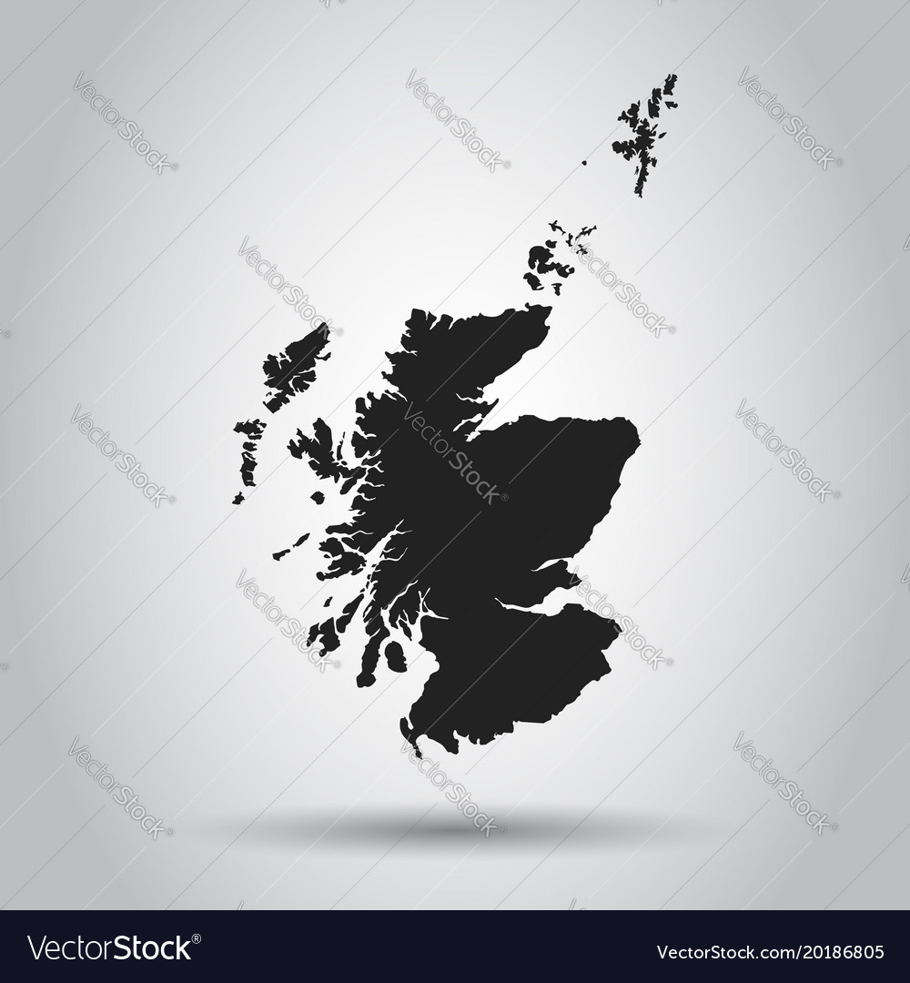 Scotland map black icon on white background vector image gumiabroncs Images