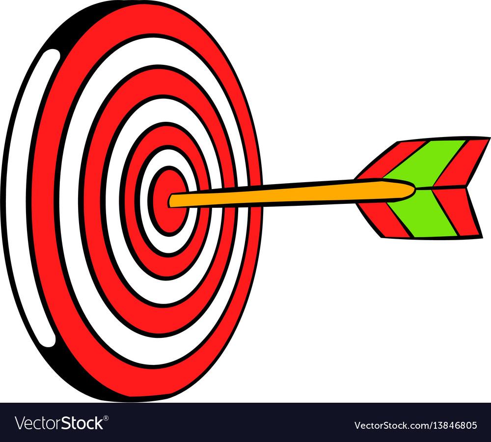 Target icon icon cartoon