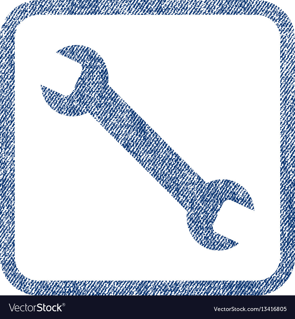 Wrench fabric textured icon
