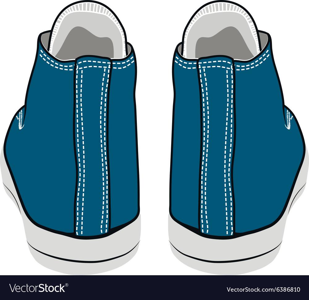 Cartoon blue sneakers