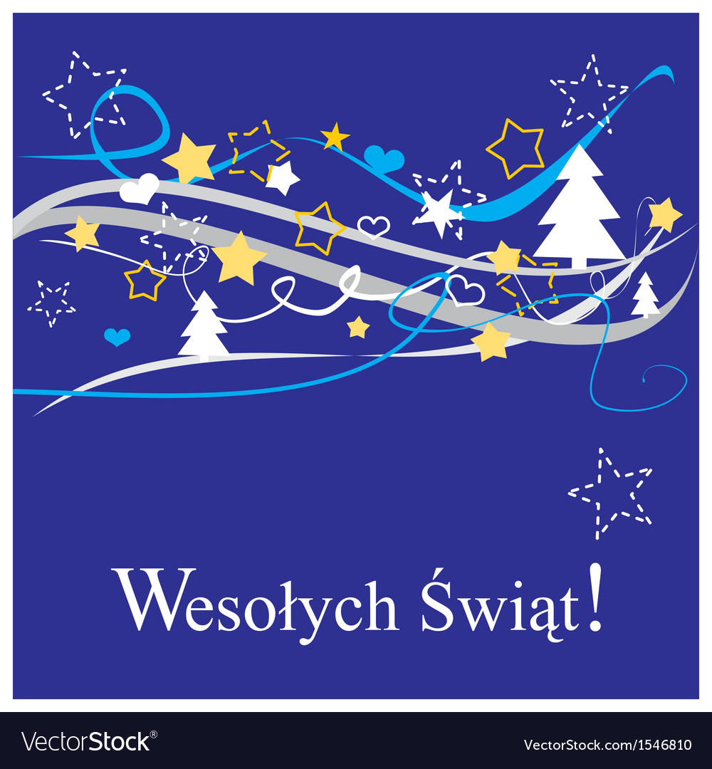 Christmas card in polish Wesolych Swiat
