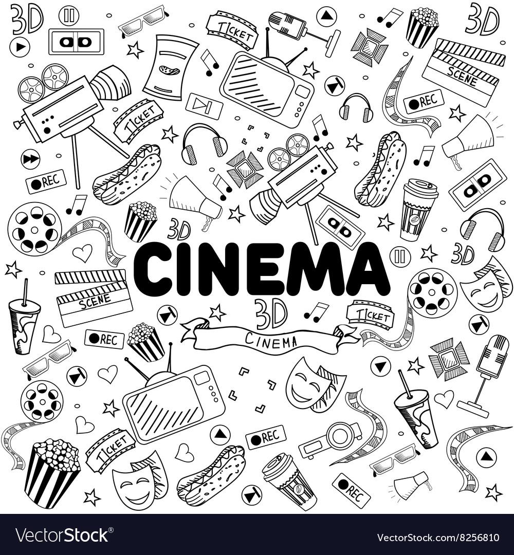 Cinema line art design