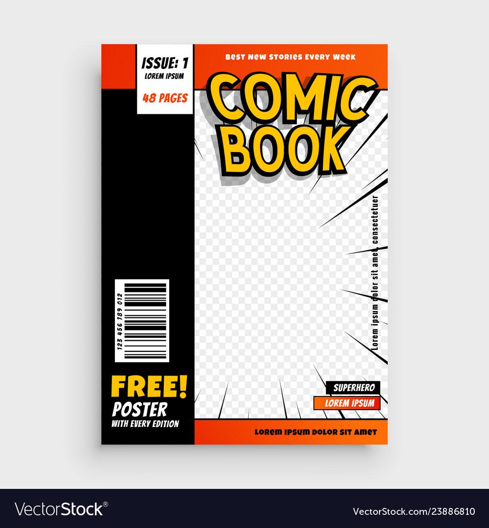 Comic magazine book cover layout design