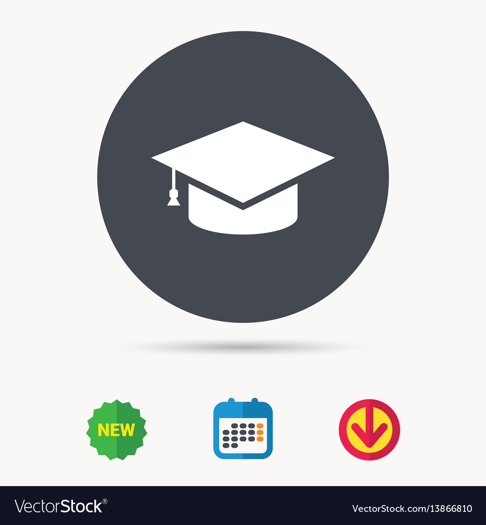education icon graduation cap sign royalty free vector image