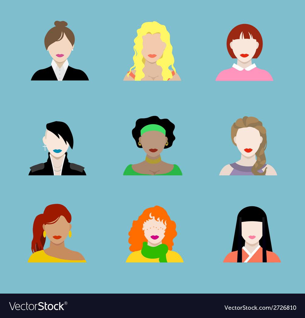Female Flat Icons