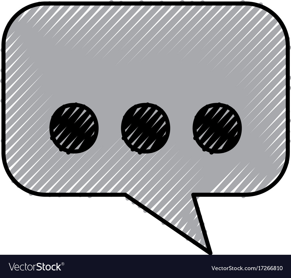 Speak bubble message dialog chat communication vector image