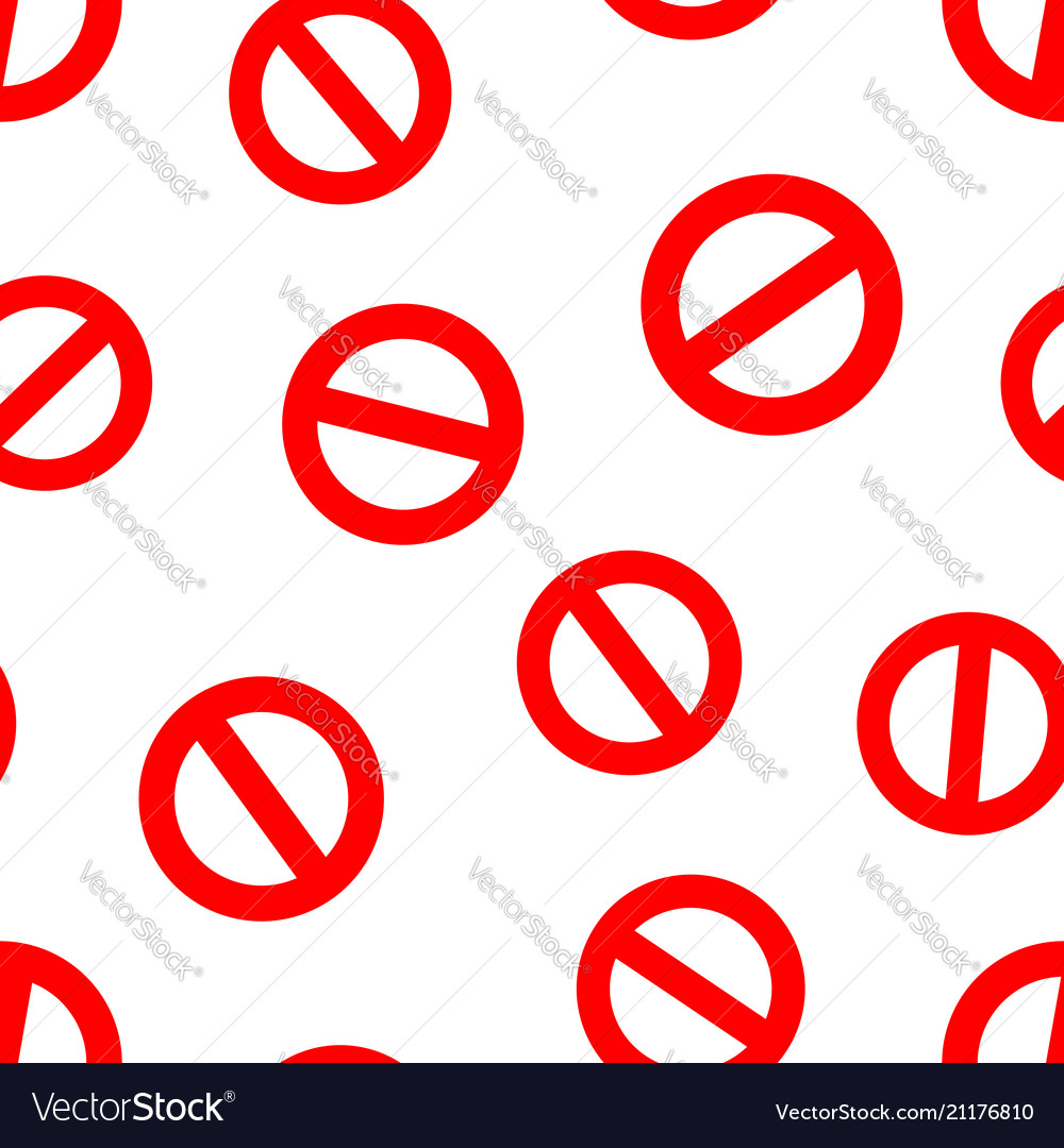 Stop sign icon seamless pattern background
