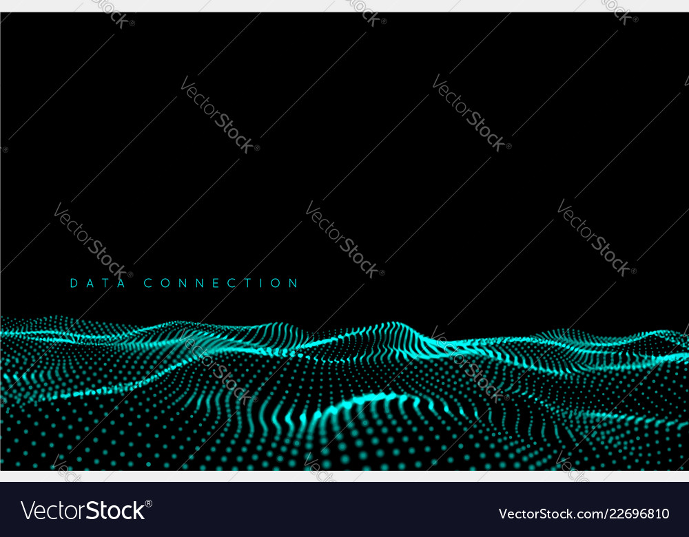 Wave dot connection background water structure on