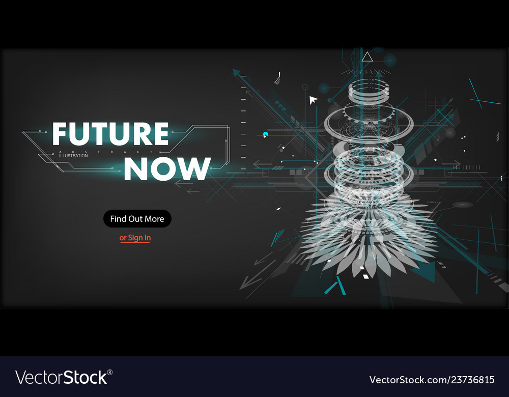 3d futuristic abstract template